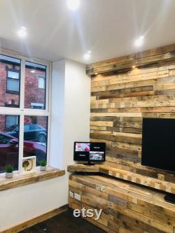 100 planches Planches de bois de palette récupéré pour revêtement mural
