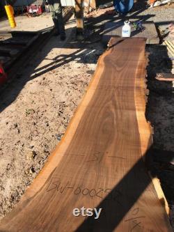 10 Foot Black Walnut Live Edge bureau exécutif. 10 pi de table en direct. Dalle de bois de bord en direct de 10 pieds de noyer