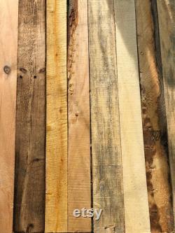 10m2 Rustic Pallet Wood Wall Cladding Boards, Préparé à la main et poncé.