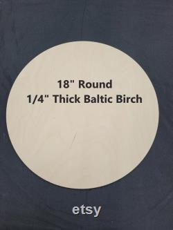 1 4 (6mm) Premium Baltic Birch 18 Rounds Circle Blanks 10 Pack