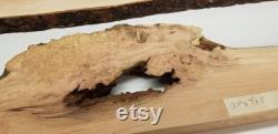 1 paire de planches de rivière Black Cherry burl à bord vif pour tout projet de travail du bois en résine Four séché et raboté lisse. Ils mesurent 37x7-3.5x1