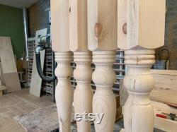 35 inches Solid Knotty pine dining Table Legs