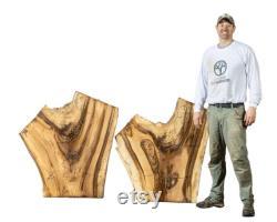 3.5 ' Vente de dalles de bois de noyer. Dalles live edge walnut. Tables d extrémité de noyer. Live Edge Walnut