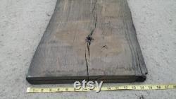 49 Pouces Live Edge Bog Oak Board 49'' x 15'' x 1.3'' (1200mm 370mm x 33mm) Black Oak Plank With Knots and Cracks
