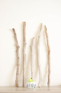 5 longs morceaux de bois flotté - 22 à 29,1 (56 à 74 cm) - Branches de bois de dérive pour les tentures murales, lampes, macramé, poignées, racks d ustensiles