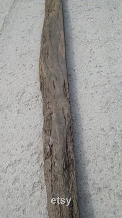 65 Pouces Live Edge Bog Oak Board L 65'' x W 5''(1650mm 120mm) Planche de chêne noir avec noeuds et fissures