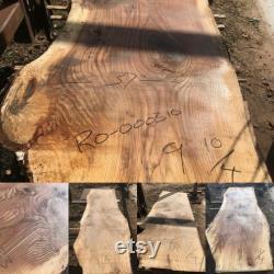9 Dalles de bois de bord de chêne de pied pour la table, le bureau, le bar ou le banc faits sur commande.