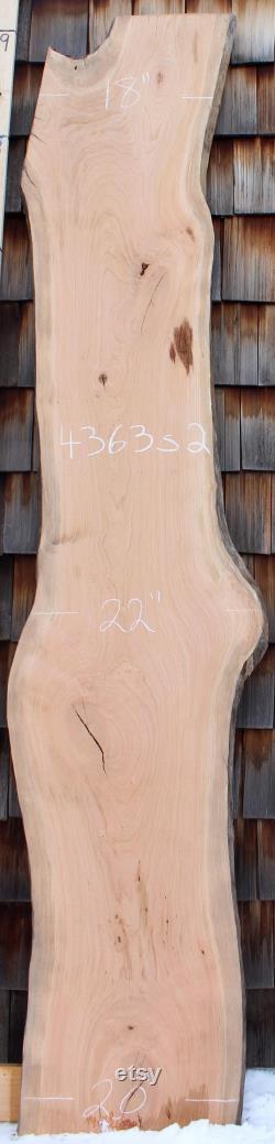 9 'Live Edge Cherry bar Top dalle bois naturel comptoir bartop rustique comptoir cascade bricolage table arbre tranche vanité Bureau personnalisé bio 4363s2