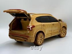 Art du travail du bois WA13 Hyundai Santa Fe 2021 Voiture en bois