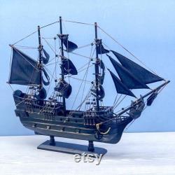 Bateau modèle en bois Bateau modèle pirates des Caraïbes Jack Sparrow Accueil Décorer voiliers Jouets Cadeaux Taille 24