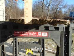 Black Walnut Live Edge Lumber Slab Fish Mount Figured Shelf Craft Art Project 78 Long 9 to 11 Wide 3 4 Thick Planed Sanded