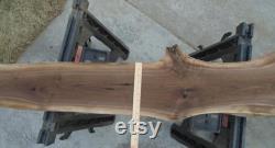 Black Walnut Live Edge Lumber Slab Kiln Dried Fancy Pastel Grain Decor Shelf Art 81 Long 10 1 2 Max. Largeur 1 5 8 Épais poncé plané