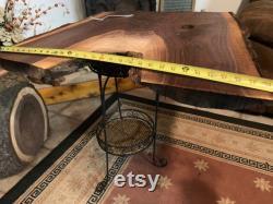Black Walnut Live Edge, Tabletop Wall Art Highly Figured Project Slab- Natural Edge DIY Hardwood JandR