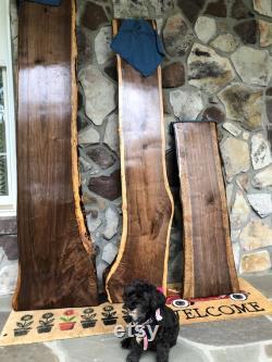 Black Walnut moyenne Live Edge Dalles jusqu à 19 Large et 76 Long