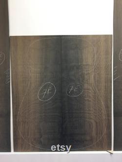Bog Oak Western Guitar dos et jeu latéral (7E). Livre assorti. Four séché 3300BC. BOIS dur natif de NOIR TAN. Voir la description des dimensions.
