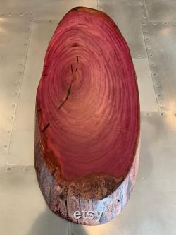 Bois de coeur violet rond biscuit (33 L X 14 W X 2 1 2 T)