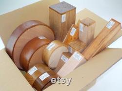 Boîte de sélection Woodturning Blanks. 10 Bols et spindle Blanks, Espèces et Tailles Mixtes