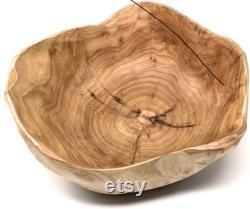 Bol en bois Sac à main Naturel Root Wood Crafts Bowl Salade de fruits Bols de service