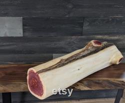 Bûche de cèdre rouge de 24 po, souche, piédestal, base de table