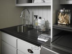 Bureaux de motifs en bois gris, panneaus muraux dessus de bureau en bois, vanité en bois de table de table et table de cuisine et comptoirs. Livraison gratuite