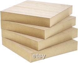 Carrés en bois inachevés pour l artisanat, 1 pouce d épaisseur (6x6 po, 4 paquets)