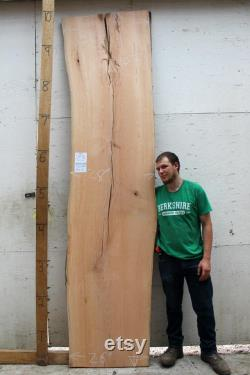 Cerise Live Edge table bois brut dalle rustique comptoir naturel en bois meubles sur mesure large planche bois 4904b2