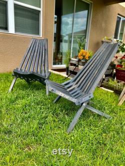 Chaise pliante de bâton
