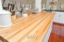Comptoir boucher bloc comptoir Wood Countertop Maple Countertop Kitchen Island Top Table Top Desk Top 1 1 4 pouce d épaisseur
