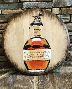 Couvercle de baril de Bourbon peint à la main