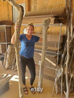 Custom Driftwood Pole 6 pieds de long et 4 pouces d épaisseur