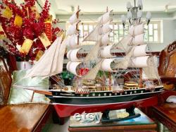 Cutty Sark modèle navire Voilier navire clipper britannique Wooden Model Ship Taille 32