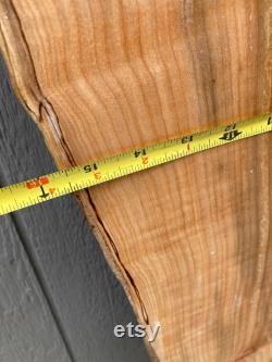 Dalle Spalted MAPLE Live Edge Bricolage Projet 65,5 de hauteur, 15,5 de largeur maximale, 2 d épaisseur