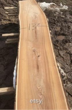 Dalle de bois de 13 pieds de long à vendre. Longues dalles de bois à vendre. Vive les dalles de bois de bord à vendre. Dalles de bois près de chez moi