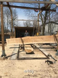 Dalle de bois de frêne de 22 pieds. Table de conférence. Dessus de barre