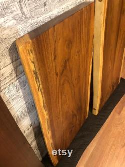 Dalle en bois d acacia de bord vivant pour le bureau ou la salle à manger ou la cuisine ou la table basse 48 . fait sur commande