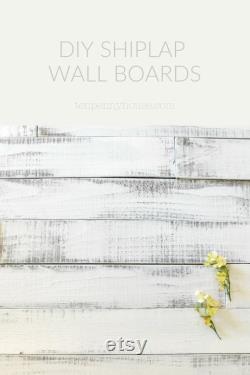 Décor de mur de ferme, planches de mur de shiplap montrées en blanc pur