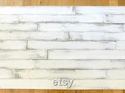 Décor mural de ferme, mur d accent de Shiplap dans les couleurs multiples, montré dans le blanc pur, le gris argenté et le gris moyen