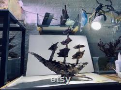 Driftwood Ship, Wood art, Driftwood sculpture, Driftwood art aquarium driftwood aquascape (Livraison gratuite)