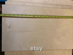 EXPÉDITION UPS 48 feuilles de feuilles de contreplaqué Baltic Birch de 3 mm parfaites pour la coupe Glowforge Laser