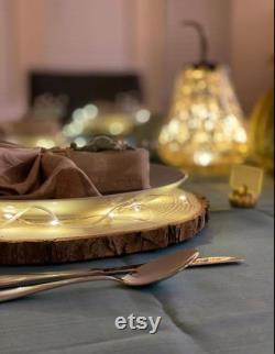 Ensemble de tranches d arbre de 12 à 10 pouces pour les pièces maîtresses, tranches d arbre pour tables, disques de bois, pièces maîtresses en tranches de bois, décor de table de mariage