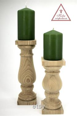 Ensemble en bois de porte-bougie de 2 décor de foyer à la maison foyer décor de bougie porte le porte-bougie rustique en bois décor de décor de décor de décor de table décor