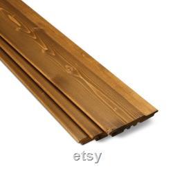 Externe Timber Cladding cèdre chêne rouge tonalité secrète fix profil 19x146mm 6 pcs dans un faisceau (39130279) www.timberfocus.com
