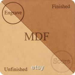 Feuilles MDF, Glowforge Ready, Pack Valeur 100, 12 x19 , 1 8 , pour gravure laser, CNC, Gravure sur bois, Routeur, Scie à défilement