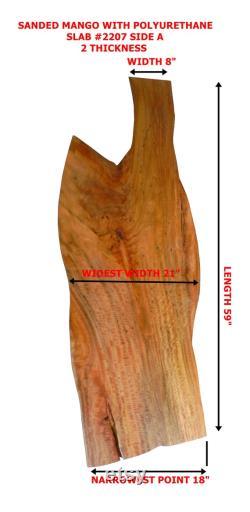 Fini Live Edge Mango Slab, prêt à l emploi, fera une grande table basse ou comptoir ou bar topTable, beaux bords naturels déclin