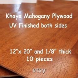 Khaya Acajou 10 pièces 1 8 MDF Core Hardwood Contreplaqué Préfini UV finition des deux côtés 12 x20 Laser Glowforge bois 10 feuilles proofgrade