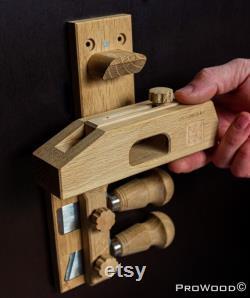 Kumiko Premium Professional Kit Ensemble de passe-temps pour hommes 4 blocs de chêne Kumiko (gabarits de travail du bois) hobby Kit
