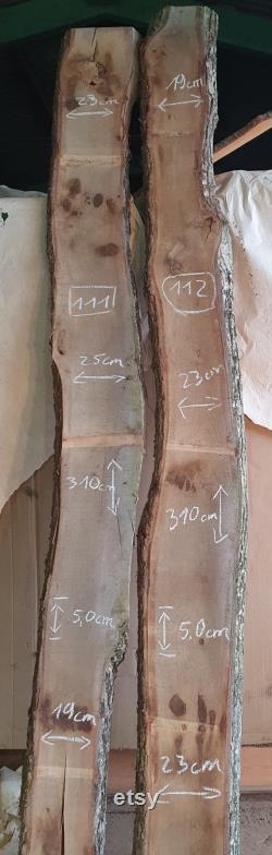 Live Edge Oak Wood Dalles Planches diverses petites et grandes tailles 5cm d épaisseur