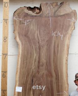 Live Edge noyer table à manger rustique personnalisé large Claro bouclés figuré dalle bois naturel grande conférence table 4698a4