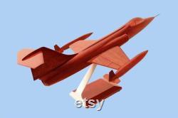 Lockheed F-104 Starfighter Mahogany Modèle artisanal