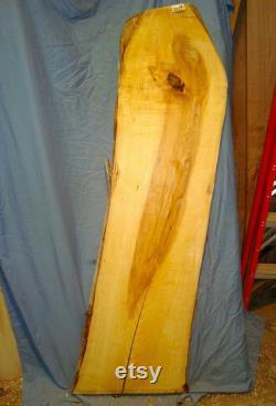Long bois de dalle de bord vivant de cendre blanche tournant le dessus rustique de table en bois